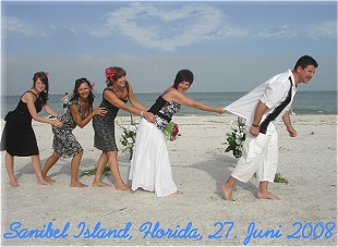 Heiraten am Strand von Sanibel Island in Florida