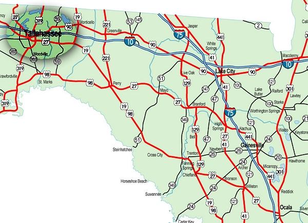 Karte Von Florida Westkuste.Florida Karten Von Der Ostkuste Und Westkuste